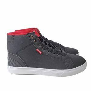 Levis black high top canvas sneaker shoes size 11